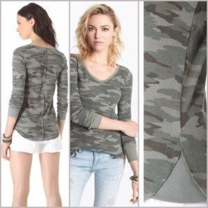 Free People We The Free Camo Thermal $58 Small